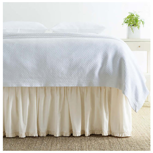 Pine Cone Hill Classic Ruffle Ivory Bed Skirt - Lavender Fields