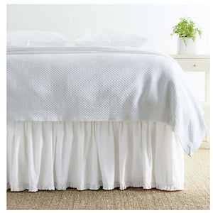 Pine Cone Hill Classic Ruffle White Bed Skirt