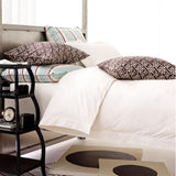 Pine Cone Hill Classic Hemstitch Ivory Duvet Cover - Lavender Fields