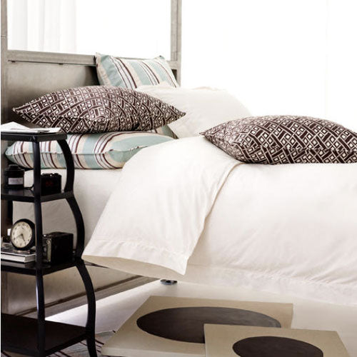 Pine Cone Hill Classic Hemstitch Ivory Pillowcases - Lavender Fields