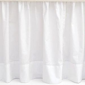 Classic Hemstitch White Bed Skirt