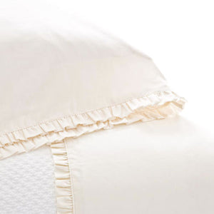 Pine Cone Hill Classic Ruffle Ivory Sheet Set - Lavender Fields