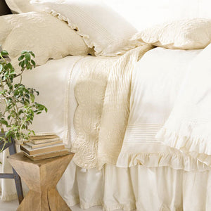 Pine Cone Hill Classic Ruffle Ivory Bed Skirt