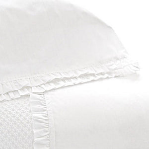 Pine Cone Hill Classic Ruffle White Sheet Set - Lavender Fields