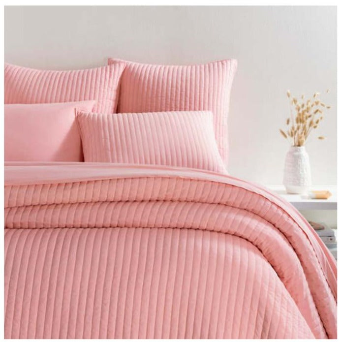 Pine Cone Hill Comfy Cotton Coral Quilt - Lavender Fields