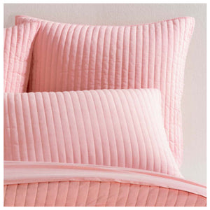 Pine Cone Hill Comfy Cotton Coral Quilted Sham - Lavender Fields