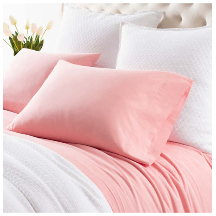 Pine Cone Hill Comfy Cotton Coral Pillowcases - Lavender Fields