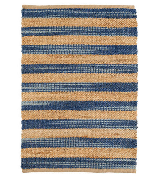Dash and Albert Corfu Blue Woven Jute Rug - Lavender Fields