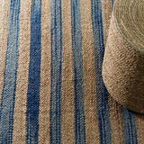 Dash and Albert Corfu Blue Woven Jute Rug