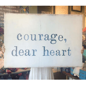 "Sugarboo Designs Courage Dear Heart Art Print (Gallery Wrap) 46"" x 35"""