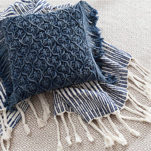 Pine Cone Hill Cozumel Navy Throw - Lavender Fields