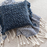 Pine Cone Hill Cozumel Navy Throw