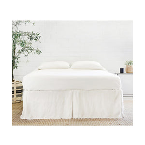 Pom Pom at Home Cream Pleated Linen Bedskirt