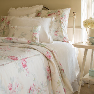 Taylor Linens Shore Rose Cream Duvet - Lavender Fields