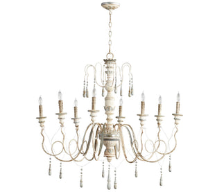 Cyan Design Chantal Eight Light Parisian Blue Chandelier - Lavender Fields
