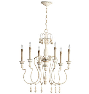 Cyan Design Chantal Six Light Parisian Blue Chandelier - Lavender Fields