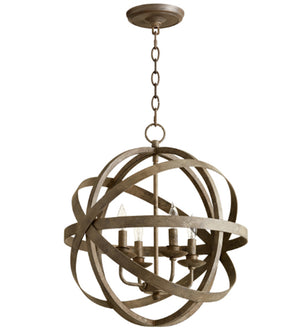 Cyan Design Gladwin Four Light Distressed Zinc Pendant