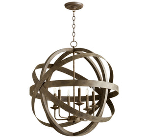 Cyan Design Gladwin Six Light Distressed Zinc Pendant