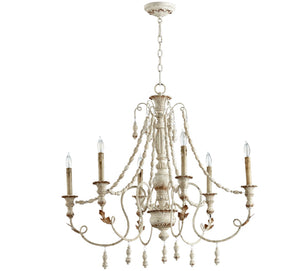 Cyan Design Lyon Six Light Persian White Chandelier - Lavender Fields