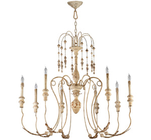 Cyan Design Maison Eight Light Persian White Chandelier