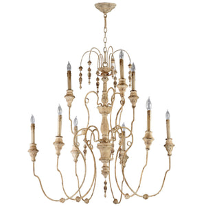 Cyan Design Maison Nine Light Persian White Chandelier - Lavender Fields