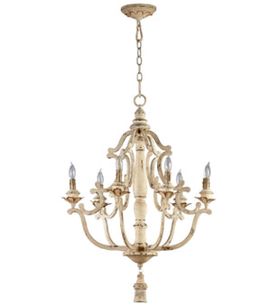 Cyan Design Maison Six Light Persian White Chandelier