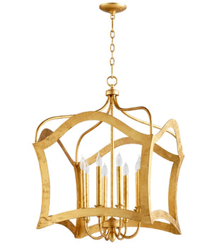 Cyan Design Milan Eight Light Gold Leaf Pendant