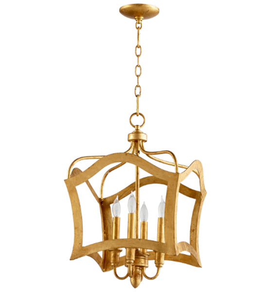 Cyan Design Milan Four Light Gold Leaf Pendant - Lavender Fields