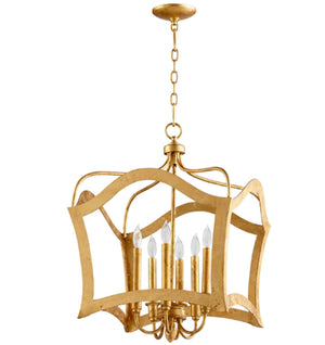 Cyan Design Milan Six Light Gold Leaf Pendant