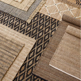 Dash and Albert Gridwork Ivory Woven Jute Rug - Lavender Fields