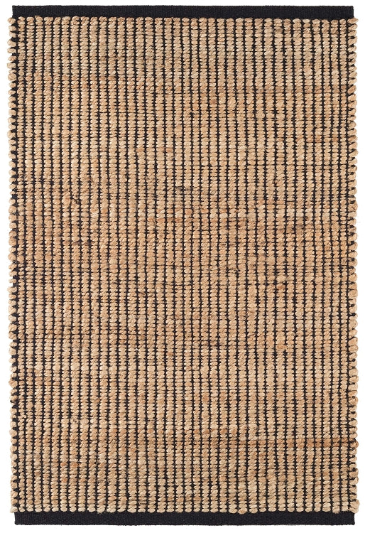 Dash and Albert Gridwork Black Woven Jute Rug - Lavender Fields