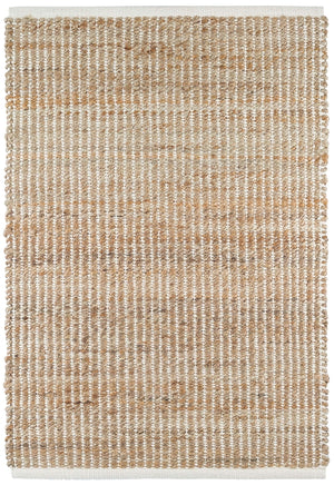 Dash and Albert Gridwork Ivory Woven Jute Rug