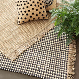 Dash and Albert Kuba Black Woven Jute Rug - Lavender Fields