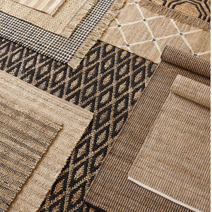 Dash and Albert Kuba Black Woven Jute Rug