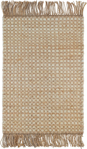 Dash and Albert Kuba Natural Woven Jute Rug - Lavender Fields