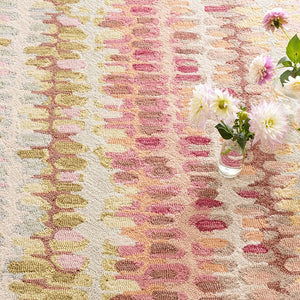 Dash and Albert Paint Chip Pastel Micro Hooked Wool Rug - Lavender Fields