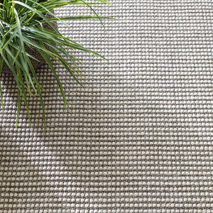 Dash and Albert Pixel Grey Woven Sisal/Wool Rug