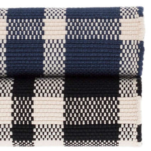 Dash and Albert Tattersall Black Indoor/Outdoor Rug