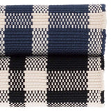 Dash and Albert Tattersall Indigo Indoor/Outdoor Rug - Lavender Fields