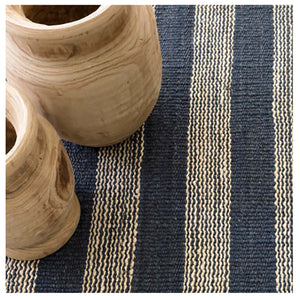 Dash and Albert Denim Ticking Woven Jute Rug
