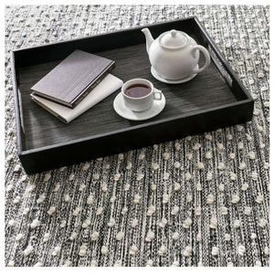 Dash and Albert Hobnail Black Indoor/Outdoor Rug - Lavender Fields