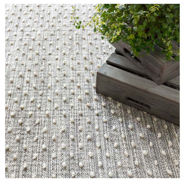 Dash and Albert Hobnail Grey Indoor/Outdoor Rug - Lavender Fields