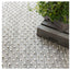 Dash and Albert Hobnail Grey Indoor/Outdoor Rug