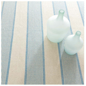 Dash and Albert La Mirada Asiatic Blue Woven Cotton Rug
