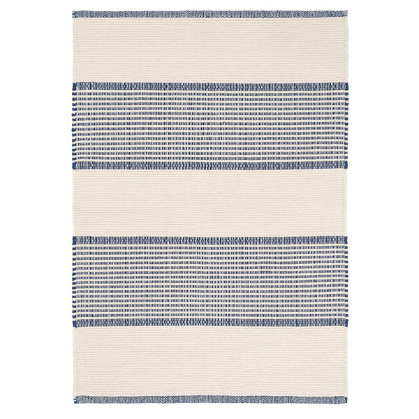 Dash and Albert La Mirada Navy Woven Cotton Rug - Lavender Fields