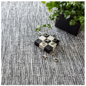 Dash and Albert Tideline Black Indoor/Outdoor Rug