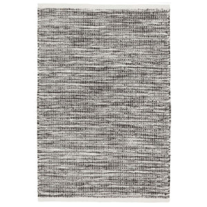 Dash and Albert Tideline Black Indoor/Outdoor Rug - Lavender Fields