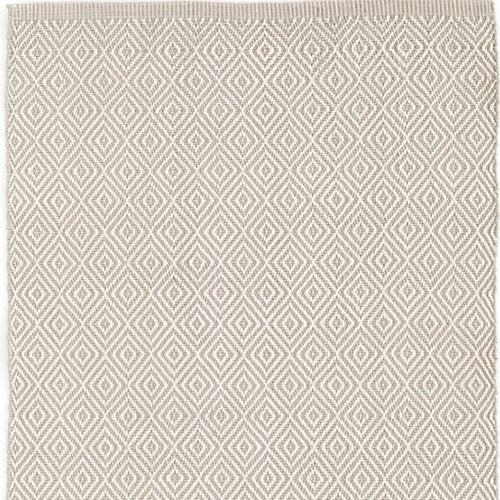 Dash and Albert Petit Diamond Platinum/Ivory Indoor/Outdoor Rug - Lavender Fields