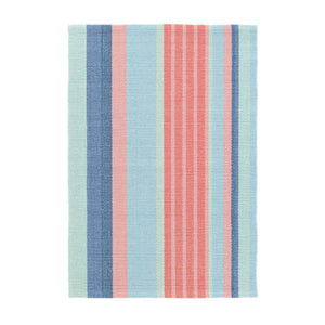 Dash and Albert Aruba Stripe Woven Cotton Rug - Lavender Fields