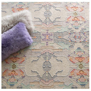 Dash and Albert Chapel Hill Loom Knotted Cotton Rug - Lavender Fields